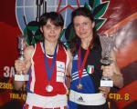 Stupino 2005.- l'avversaria e amica Victoria Usachenko