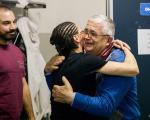 Papà Sergio saluta e porge l'in bocca al lupo a Loredana...