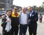 Con l'arbitro del match Guadalupe Garcia