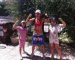 allenarsi d'estate è meno pesante se si è in compagnia ... con Viola e Gaia