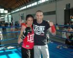 Simona e Max a fine allenamento